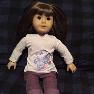 American Girl doll 18 in pretty brown hair…